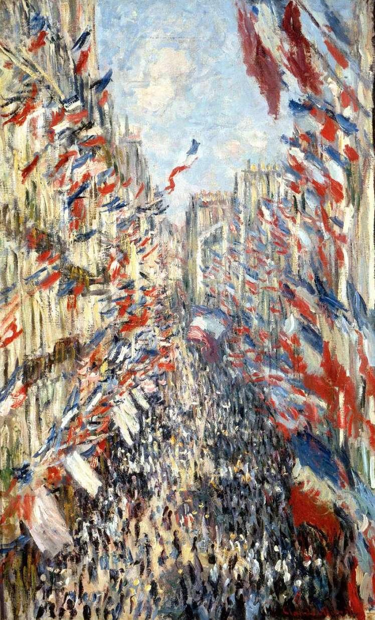 Claude Monet — La Rue Montorgueil à Paris. Fête du 30 juin 1878