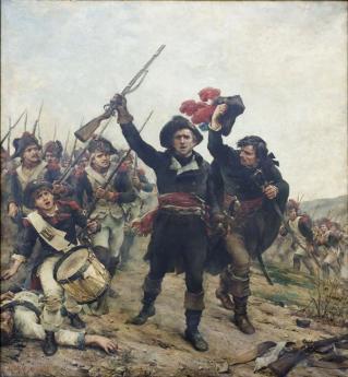 Illustration Sneg Lazare Carnot à la bataille de Wattignies
